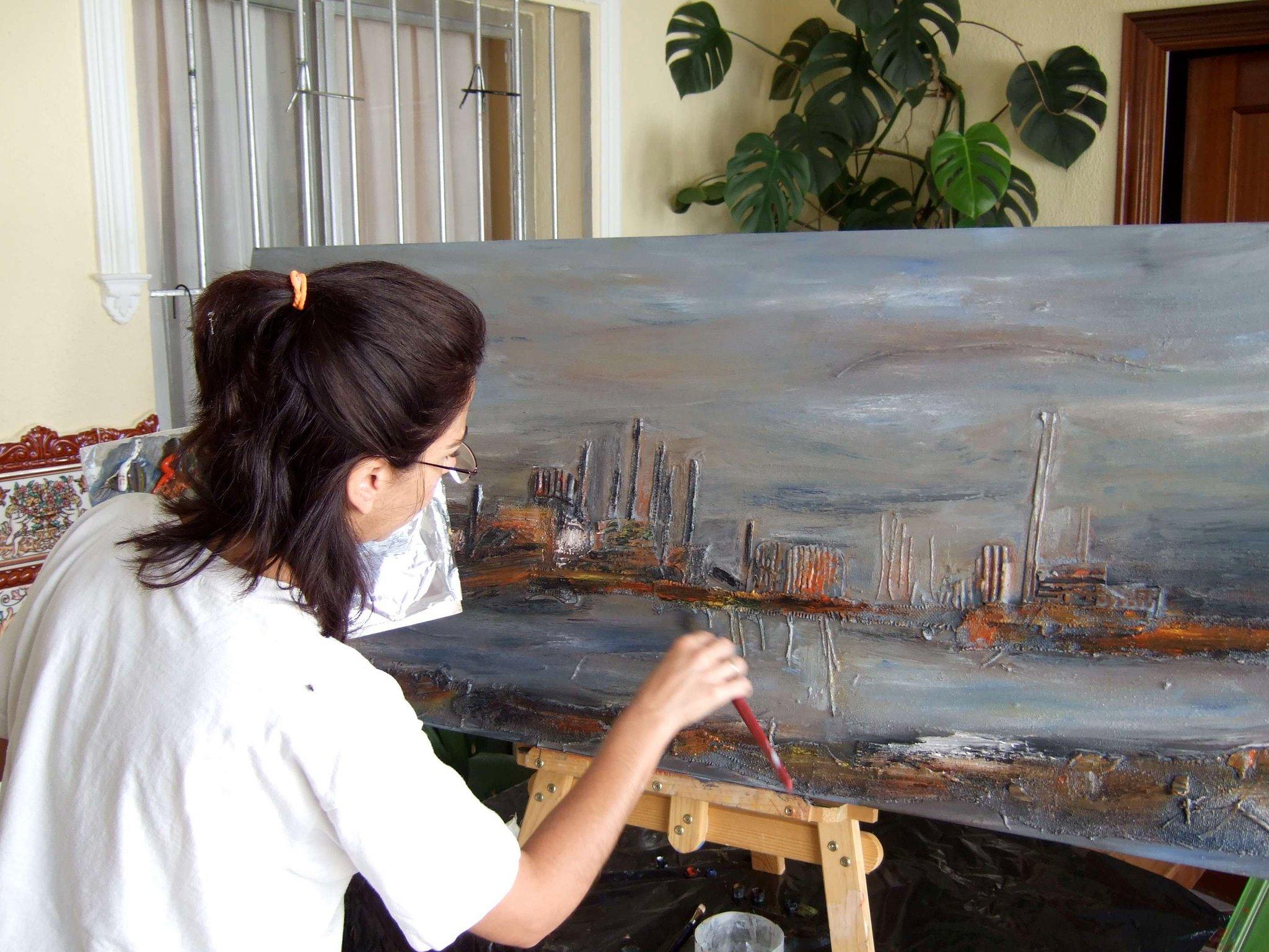 mariló carranza pintando